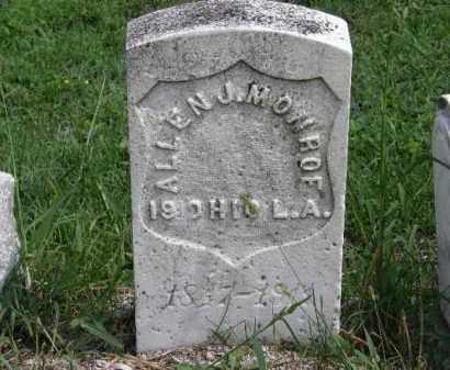 MONROE, ALLEN J. - Lorain County, Ohio | ALLEN J. MONROE - Ohio Gravestone Photos