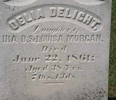 MORGAN, DELIA DELIGHT - Lorain County, Ohio | DELIA DELIGHT MORGAN - Ohio Gravestone Photos