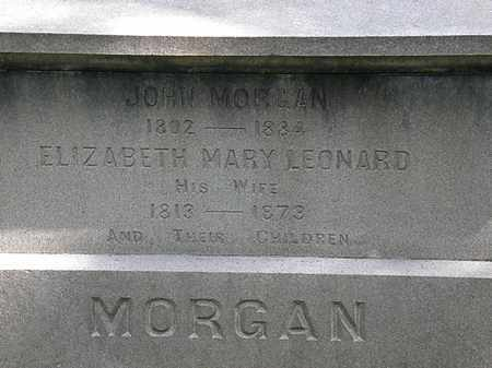 LEONARD MORGAN, ELIZABETH MARY - Lorain County, Ohio | ELIZABETH MARY LEONARD MORGAN - Ohio Gravestone Photos