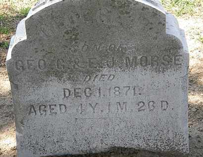 MORSE, GEORGE B. - Lorain County, Ohio | GEORGE B. MORSE - Ohio Gravestone Photos