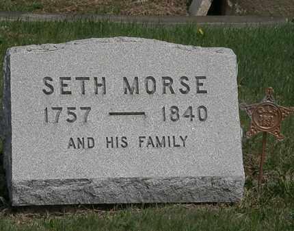 MORSE, SETH - Lorain County, Ohio | SETH MORSE - Ohio Gravestone Photos