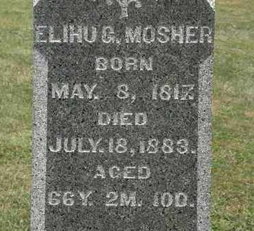 MOSHER, ELIHU G. - Lorain County, Ohio | ELIHU G. MOSHER - Ohio Gravestone Photos
