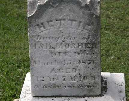 MOSHER, HETTIE - Lorain County, Ohio | HETTIE MOSHER - Ohio Gravestone Photos