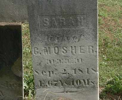 MOSHER, G. - Lorain County, Ohio | G. MOSHER - Ohio Gravestone Photos