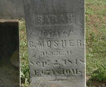 MOSHER, SARAH - Lorain County, Ohio | SARAH MOSHER - Ohio Gravestone Photos