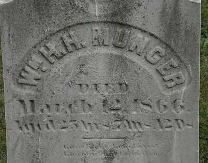 MUNGER, WM. H.H. - Lorain County, Ohio | WM. H.H. MUNGER - Ohio Gravestone Photos
