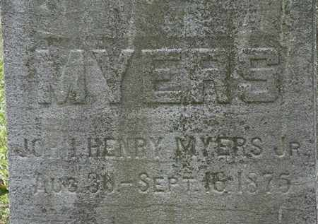 MYERS, JOHN HENRY JR. - Lorain County, Ohio | JOHN HENRY JR. MYERS - Ohio Gravestone Photos