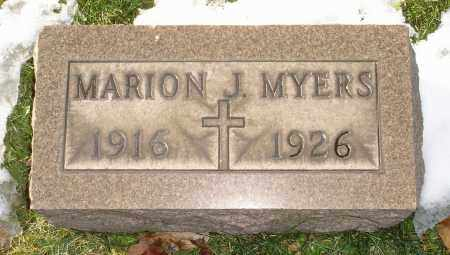 MYERS, MARION J. - Lorain County, Ohio | MARION J. MYERS - Ohio Gravestone Photos