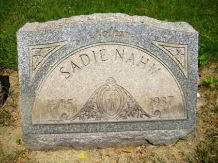MINOR NAHM, SADIE - Lorain County, Ohio | SADIE MINOR NAHM - Ohio Gravestone Photos