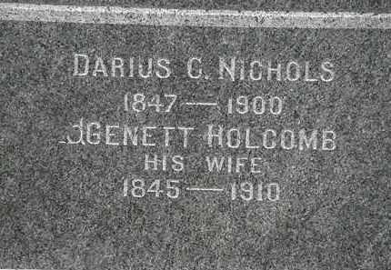 NICHOLS, GENETT - Lorain County, Ohio | GENETT NICHOLS - Ohio Gravestone Photos