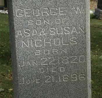 NICHOLS, GEORGE W. - Lorain County, Ohio | GEORGE W. NICHOLS - Ohio Gravestone Photos
