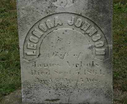 JOHNSON NICHOLS, LENORA - Lorain County, Ohio | LENORA JOHNSON NICHOLS - Ohio Gravestone Photos