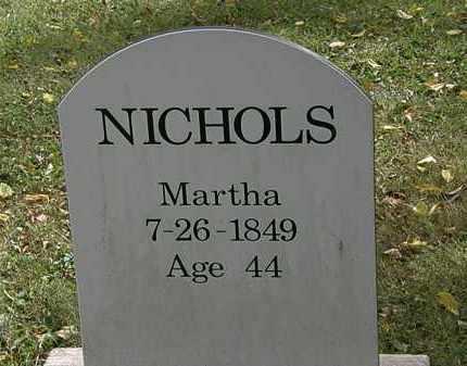 NICHOLS, MARTHA - Lorain County, Ohio | MARTHA NICHOLS - Ohio Gravestone Photos