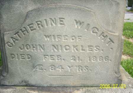 WIGHT NICKLES, CATHERINE - Lorain County, Ohio | CATHERINE WIGHT NICKLES - Ohio Gravestone Photos