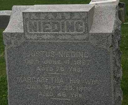 NIEDING, MARGARETHA - Lorain County, Ohio | MARGARETHA NIEDING - Ohio Gravestone Photos