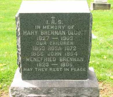 BRENNAN OLCOTT, MARY - Lorain County, Ohio | MARY BRENNAN OLCOTT - Ohio Gravestone Photos