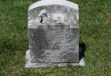 ORAM, FRANK - Lorain County, Ohio | FRANK ORAM - Ohio Gravestone Photos