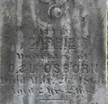 OSBORN, CARRIE - Lorain County, Ohio | CARRIE OSBORN - Ohio Gravestone Photos