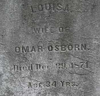 OSBORN, LOUISA - Lorain County, Ohio | LOUISA OSBORN - Ohio Gravestone Photos