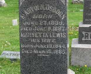 LEWIS OSBORN, MARYETTA - Lorain County, Ohio | MARYETTA LEWIS OSBORN - Ohio Gravestone Photos