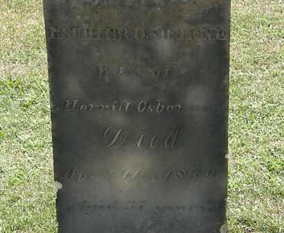 OSBORNE, ESTHER - Lorain County, Ohio | ESTHER OSBORNE - Ohio Gravestone Photos