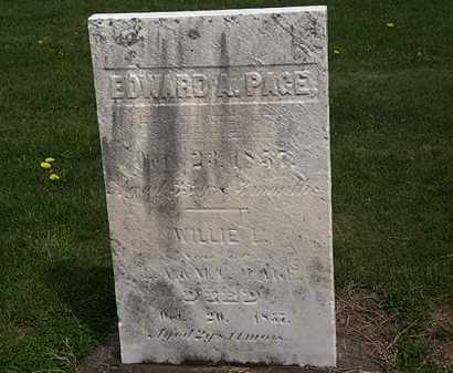 PAGE, WILLIE L. - Lorain County, Ohio | WILLIE L. PAGE - Ohio Gravestone Photos
