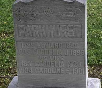 PARKHURST, CORDELIA J. - Lorain County, Ohio | CORDELIA J. PARKHURST - Ohio Gravestone Photos
