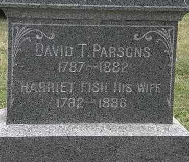 FISH PARSONS, HARRIET - Lorain County, Ohio | HARRIET FISH PARSONS - Ohio Gravestone Photos