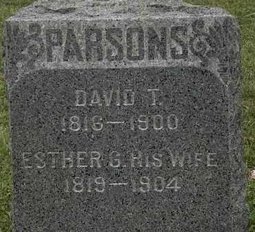 PARSONS, ESTHER G. - Lorain County, Ohio | ESTHER G. PARSONS - Ohio Gravestone Photos