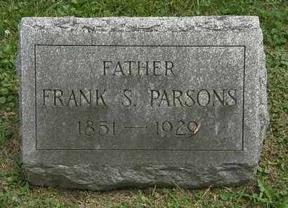 PARSONS, FRANK S. - Lorain County, Ohio | FRANK S. PARSONS - Ohio Gravestone Photos