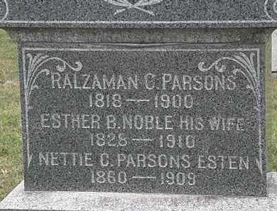 PARSONS, ESTHER B. - Lorain County, Ohio | ESTHER B. PARSONS - Ohio Gravestone Photos