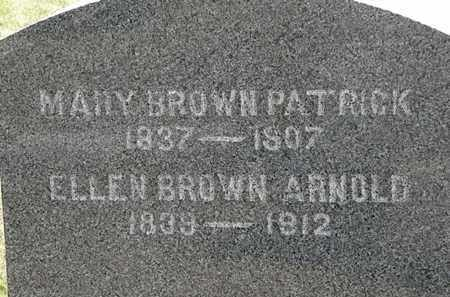 BROWN ARNOLD, ELLEN - Lorain County, Ohio | ELLEN BROWN ARNOLD - Ohio Gravestone Photos