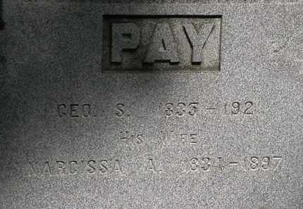 PAY, NARCISSA A. - Lorain County, Ohio | NARCISSA A. PAY - Ohio Gravestone Photos