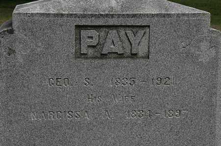 PAY, NARCISSA A. - Lorain County, Ohio | NARCISSA A. PAY - Ohio Gravestone Photos