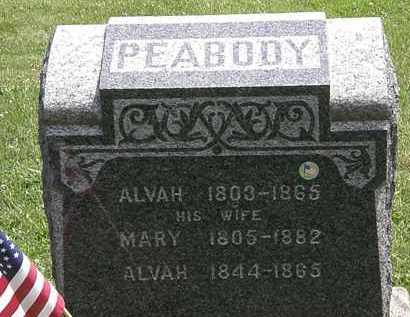 PEABODY, ALVAH - Lorain County, Ohio | ALVAH PEABODY - Ohio Gravestone Photos