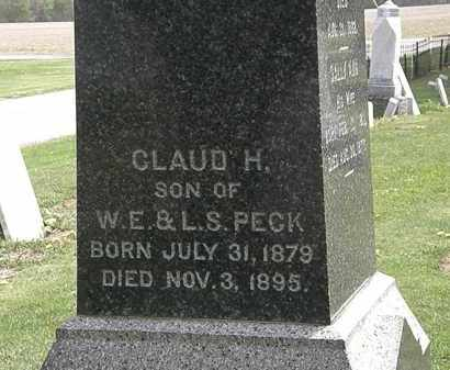 PECK, CLAUD H. - Lorain County, Ohio | CLAUD H. PECK - Ohio Gravestone Photos