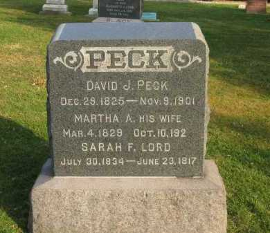 PECK, DAVID J. - Lorain County, Ohio | DAVID J. PECK - Ohio Gravestone Photos