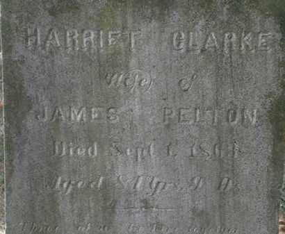CLARKE PELTON, HARRIET - Lorain County, Ohio | HARRIET CLARKE PELTON - Ohio Gravestone Photos