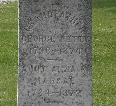 PETTY, GEORGE - Lorain County, Ohio | GEORGE PETTY - Ohio Gravestone Photos