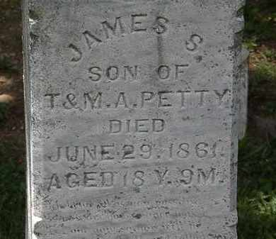 PETTY, JAMES S. - Lorain County, Ohio | JAMES S. PETTY - Ohio Gravestone Photos