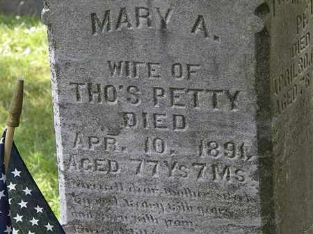 PETTY, MARY A. - Lorain County, Ohio | MARY A. PETTY - Ohio Gravestone Photos