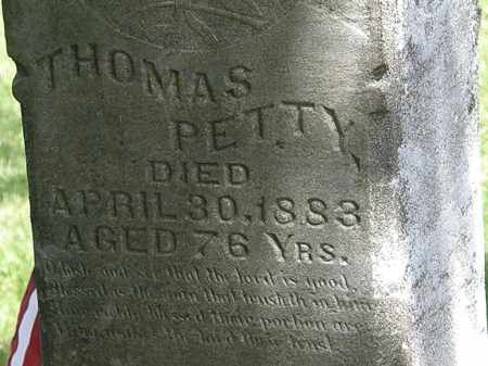 PETTY, THOMAS - Lorain County, Ohio | THOMAS PETTY - Ohio Gravestone Photos