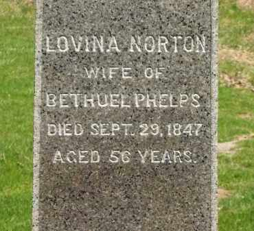 NORTON PHELPS, LOVINA - Lorain County, Ohio | LOVINA NORTON PHELPS - Ohio Gravestone Photos