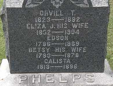 PHELPS, CALISTA - Lorain County, Ohio | CALISTA PHELPS - Ohio Gravestone Photos