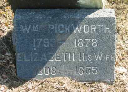 PICKWORTH, WM. - Lorain County, Ohio | WM. PICKWORTH - Ohio Gravestone Photos