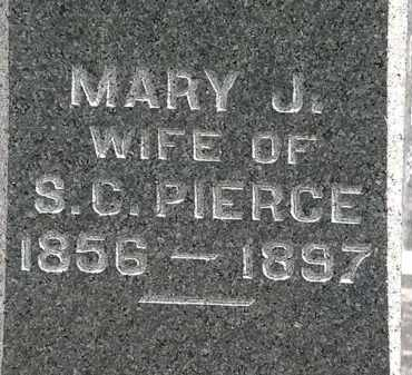 PIERCE, MARY J. - Lorain County, Ohio | MARY J. PIERCE - Ohio Gravestone Photos