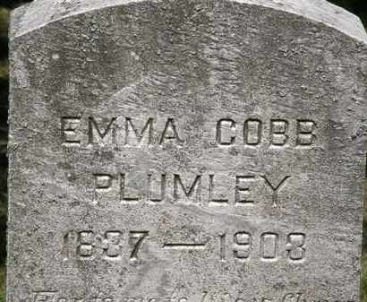 PLUMLEY, EMMA COBB - Lorain County, Ohio | EMMA COBB PLUMLEY - Ohio Gravestone Photos