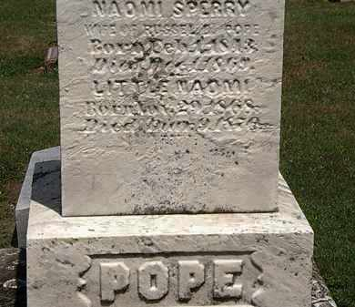 SPERRY POPE, NAOMI - Lorain County, Ohio | NAOMI SPERRY POPE - Ohio Gravestone Photos