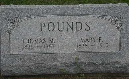 POUNDS, MARY F. - Lorain County, Ohio | MARY F. POUNDS - Ohio Gravestone Photos