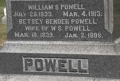 BENDER POWELL, BETSEY - Lorain County, Ohio | BETSEY BENDER POWELL - Ohio Gravestone Photos